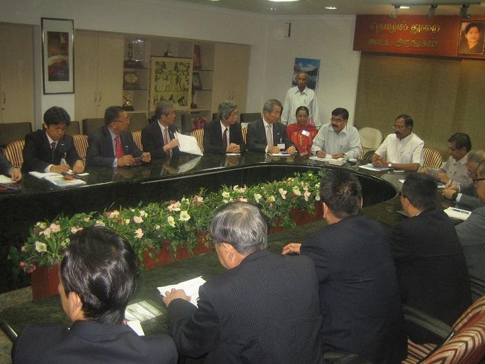 タンガマニ タミル・ナードゥ州工業大臣