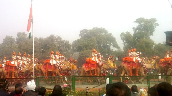 共和国記念日軍事・文化パレードの見学