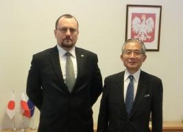 ヤツェク・イズィドルチク駐日ポーランド共和国大使と湯下FEC専務理事