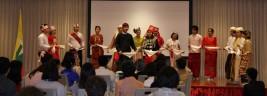 文化交流会ではミャンマーの伝統行事が披露された