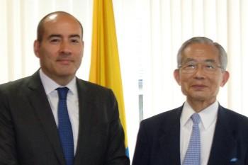 サンティアゴ・パルド駐日コロンビア共和国大使表敬HP1