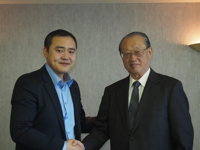 ガントムル教育科学大臣と松澤理事長