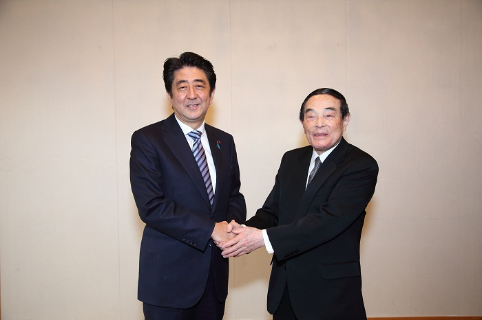 安倍総理と金川会長