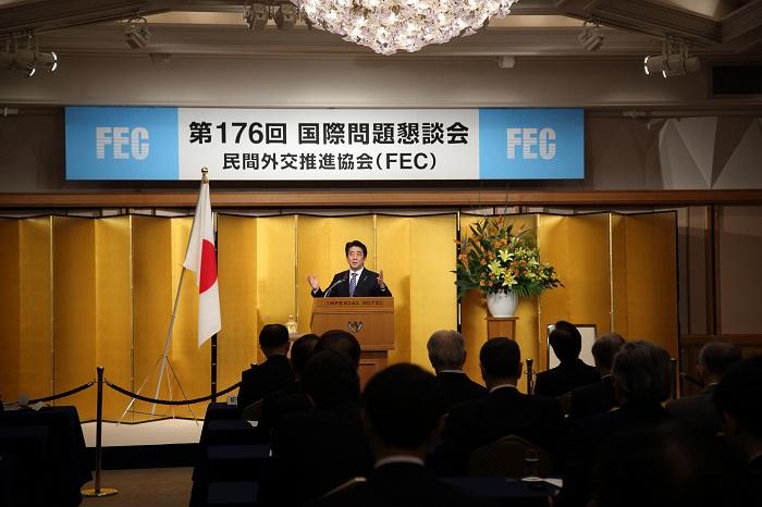 第176回国際問題懇談会の開催風景