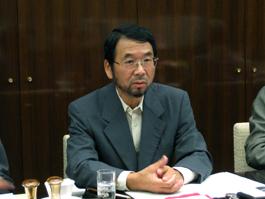 講演をする福田安志JETROアジア経済研究所研究員