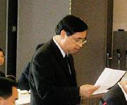 ATC議長として祝辞等あいさつのビン駐日ベトナム大使