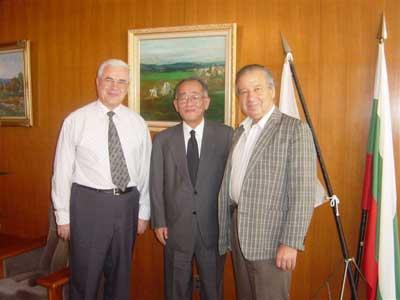 ブルガリア大使館にて