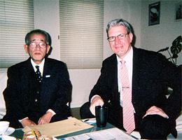 駐日ラトビア大使と面談の埴岡副理事長