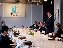 第83回FEC日欧経済等フォーラム会場の様子。左側はFEC役員