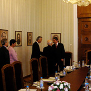 パルヴァノフ・ブルガリア大統領を表敬 (ソフィア)