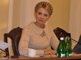 ティモシェンコ首相との会談(キエフ)