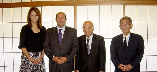 バドル外務次官夫妻と藤田FEC副会長、埴岡同理事長(ホテルオークラ東京)