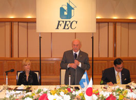 FECの招待に謝意を表すモラレス・ニカラグア副大統領
